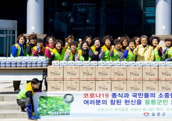 울릉군, 경북·대구 의료진 위해 청정 산나물 지원